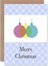 Wee Blue Coo Tarjeta de felicitación de Navidad