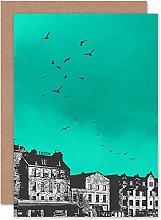 Wee Blue Coo - Tarjeta de felicitación, diseño