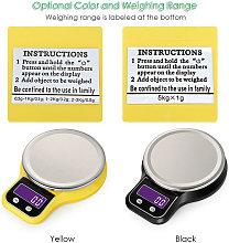 Weiheng - Balanza electronica de cocina, amarilla,