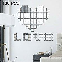 WEIHONG Pegatinas de Pared 100 PCS Cuadrado