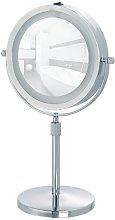 WENKO Espejo de pie para la cosmética con LED