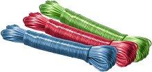 Wenko - Tendedero, plástico, Multicolor, 20 m