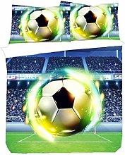 WENYA Ropa de Cama Infantil 3D Fútbol Baloncesto