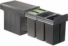 WESCO 857411-72 Cubo de basura, plástico, gris