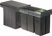 WESCO 857421-72 Cubo de basura, plástico, gris