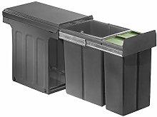 WESCO 857621-72 Cubo de basura, plástico, gris
