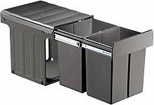 WESCO 887911-72 Cubo de basura, plástico, gris