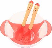 WFZ17 3 unids/set bebé niños tazón y cuchara,