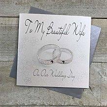 White Cotton Cards Tarjeta de felicitación de
