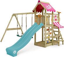 WICKEY Parque infantil de madera VanillaFlyer con