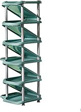 WINON Zapatero Rack de Zapatos Verde de 10 Capas,