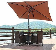 WJWJ Sombrillas Terraza 3x3m Inclinable,Parasoles