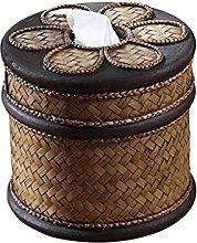WLP-WF Caja de Pañuelos con Tapa Redonda Caja de