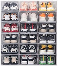 WLTY 12pcs caja de zapatos Set Multicolor plegable