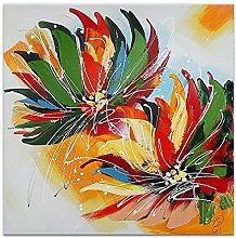 World Art Fiori Multicolore Flores Pintura,
