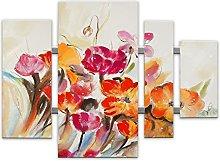 World Art Fleurs Flores Pintura, Madera,