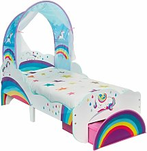 Worlds Apart Cama de niño con cajón unicornios
