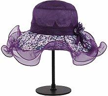 WOYBAOF Sombrero de Seda El Parasol Femenino se