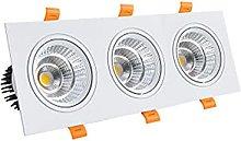 WUIO Foco De Techo LED, Downlight Cuadrado De Tres