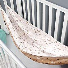 WUSHUN Hamaca para cuna de bebé, tela de algodón