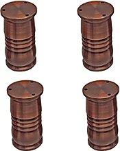 WYBW Patas de soporte para muebles, 4 piezas de