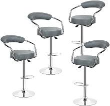 WYCTIN® Un juego de cuatro   gris   silla de bar