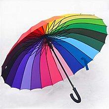 WYF Paraguas Plegable 24 Paraguas Arco Iris de