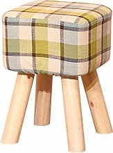 WZNING Taburete de madera maciza para sofá de
