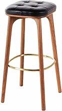 XAGB Taburete de bar de madera maciza + cojín de