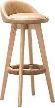 XAGB Taburete redondo de madera giratorio de 360