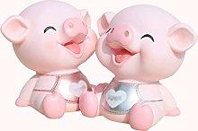 XHAEJ Bancos de Dinero Cerdo Creativo Cerdo Piggy