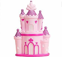 XHAEJ Money Banks Children's Piggy Bank Castle