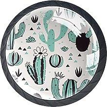 Xingruyun Pomos Y Tiradores Cactus Verde Pomo para