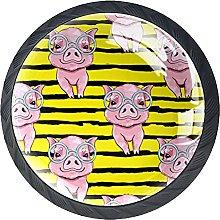 Xingruyun Pomos Y Tiradores Cerdo Rosa Pomo para