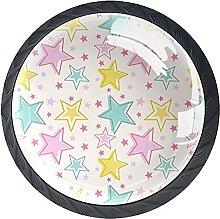 Xingruyun Pomos Y Tiradores Estrellas Rosa Azul