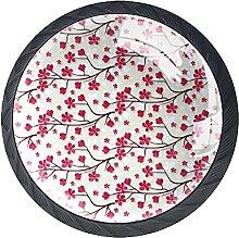 Xingruyun Pomos Y Tiradores Flor De Cerezo Pomo