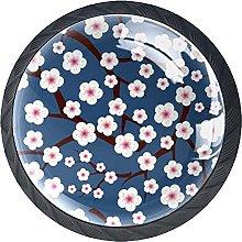 Xingruyun Pomos Y Tiradores Flor De Ciruelo Pomo
