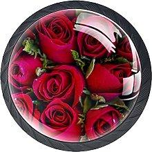 Xingruyun Pomos Y Tiradores Flor Rosa Pomo para