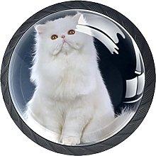 Xingruyun Pomos Y Tiradores Gato Blanco Pomo para