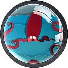 Xingruyun Pomos Y Tiradores Pulpo Rojo Pomo para