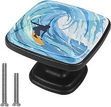 Xingruyun Pomos Y Tiradores Surfer Blue Pomo para