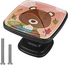 Xingruyun Tiradores para Muebles Adorable Oso Pomo