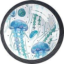 Xingruyun Tiradores para Muebles Azul Pomo para