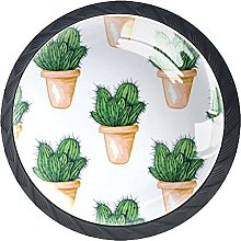 Xingruyun Tiradores para Muebles Cactus Verde