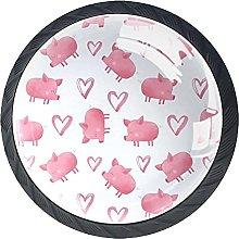 Xingruyun Tiradores para Muebles Cerdo Rosa Pomo