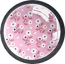 Xingruyun Tiradores para Muebles Flor Rosa Pomo