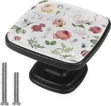 Xingruyun Tiradores para Muebles Flores Pomo para
