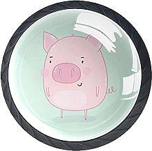 Xingruyun Tiradores para Muebles Lindo Cerdo Rosa