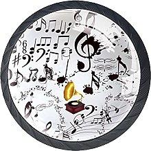 Xingruyun Tiradores para Muebles Notas Musicales