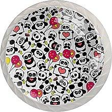 Xingruyun Tiradores para Muebles Panda con Globo